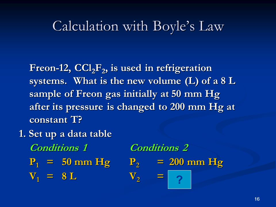 Calculation with Boyle's Law