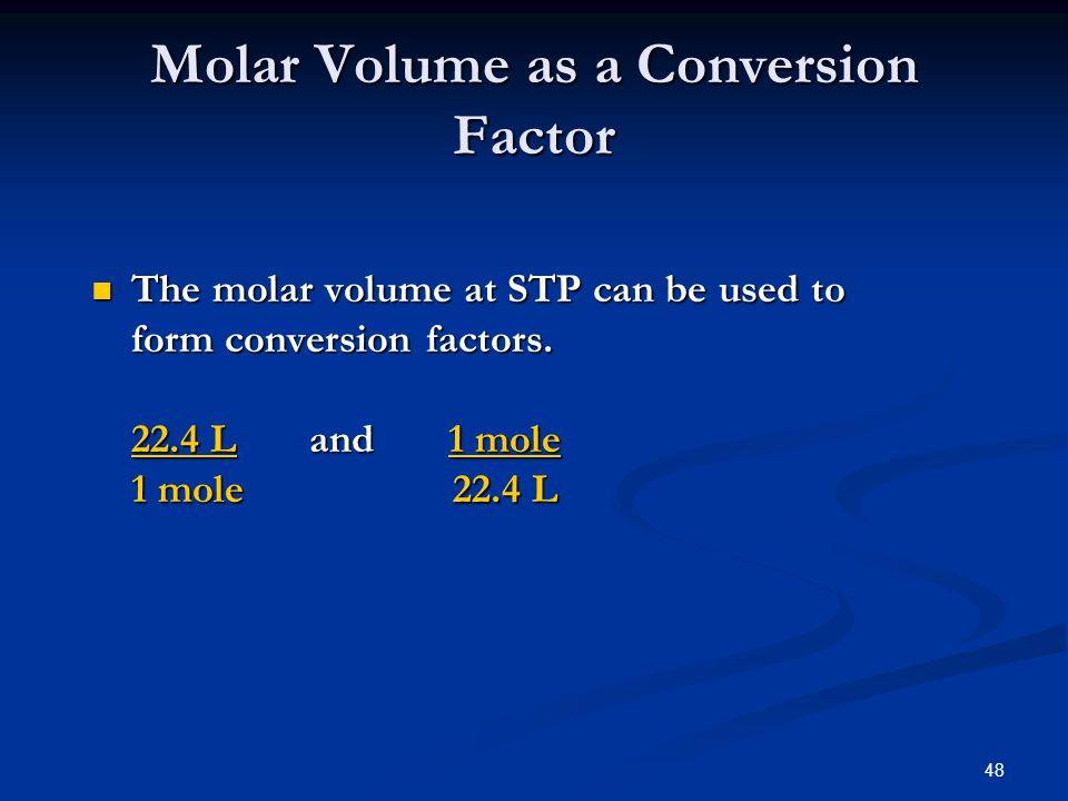Molar Volume as a Conversion Factor