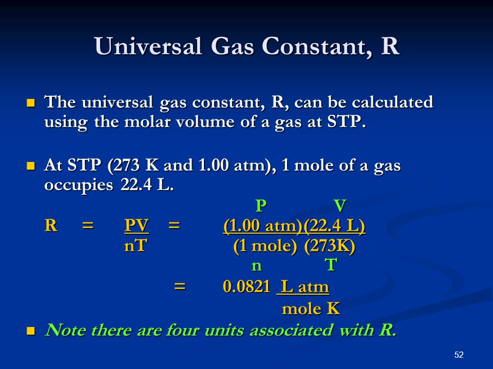 Universal Gas Constant, R