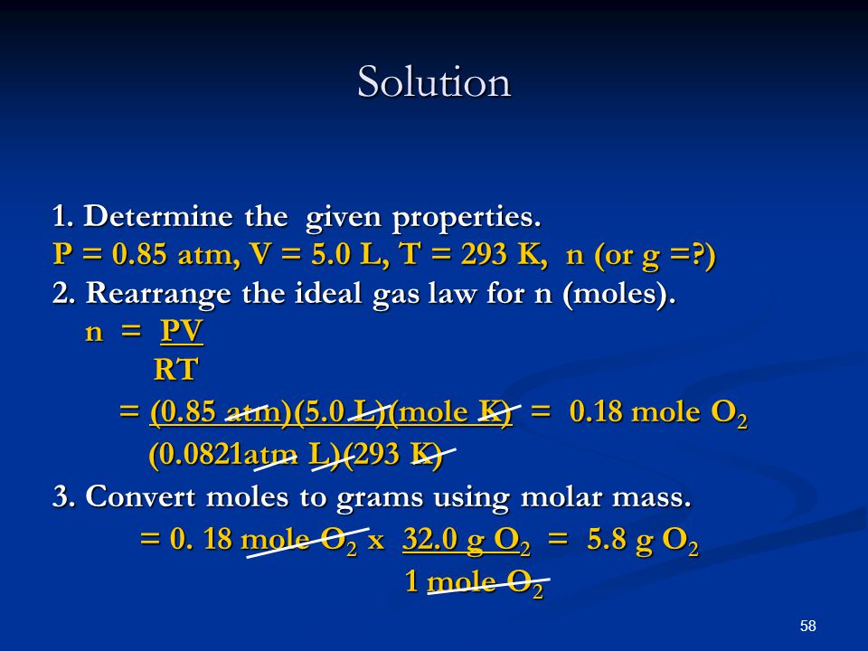 Solution 1. Determine the given properties.