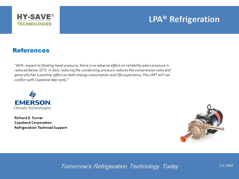 LPA® Refrigeration References