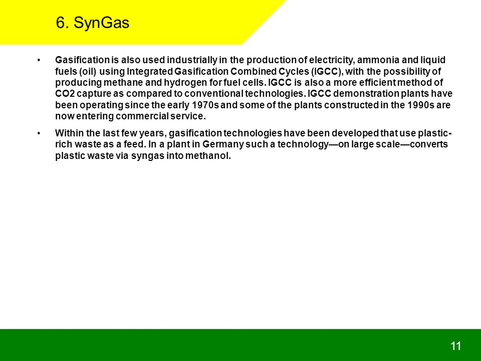 6. SynGas