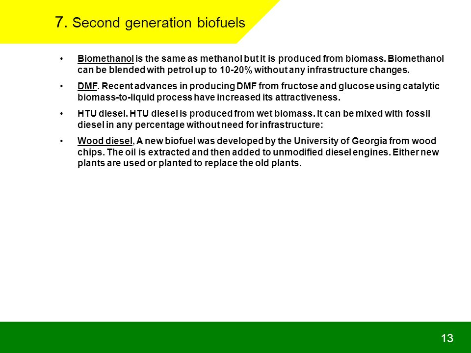 7. Second generation biofuels