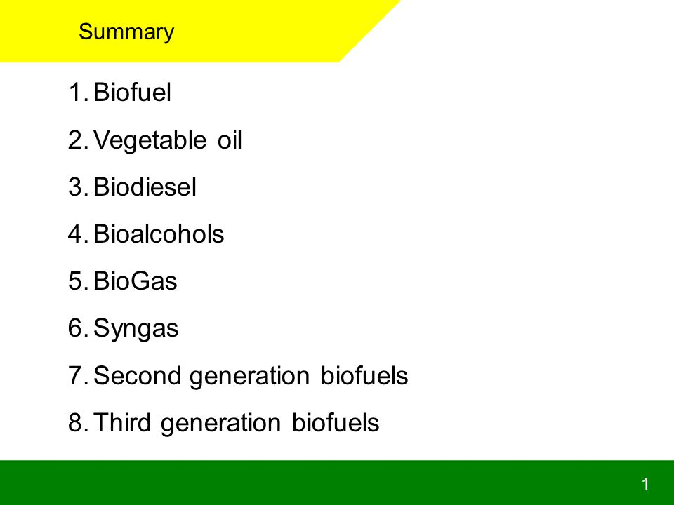 Second generation biofuels Third generation biofuels