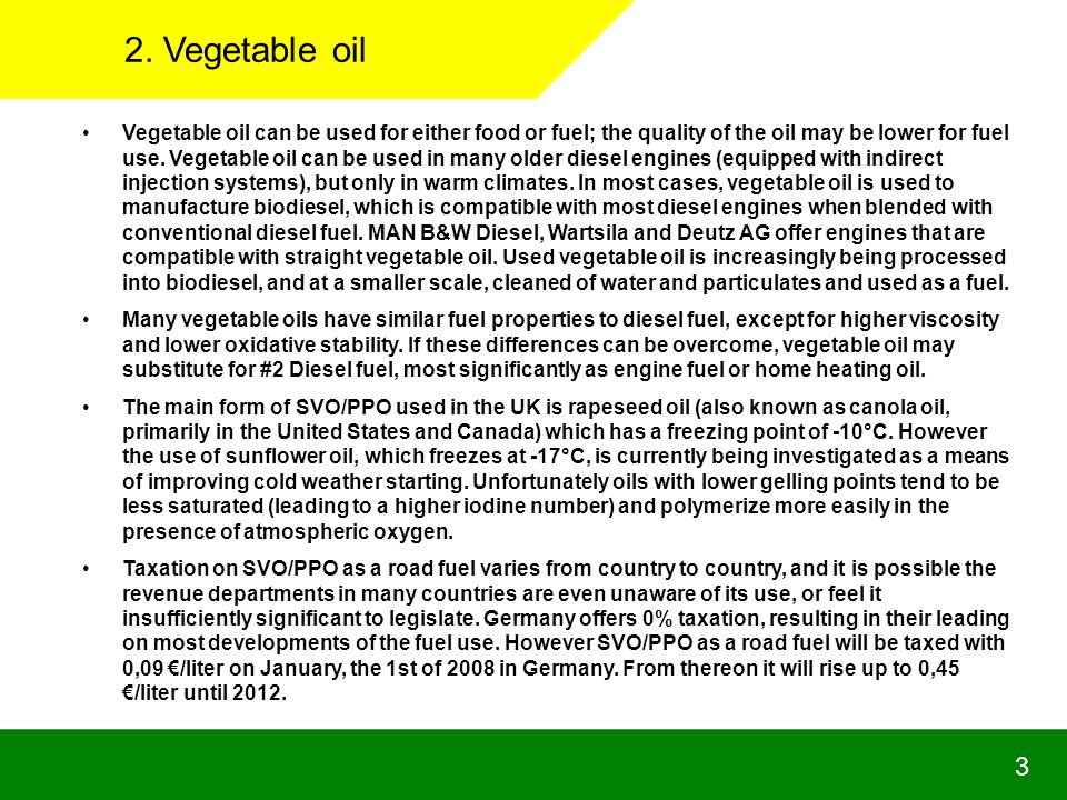 2. Vegetable oil