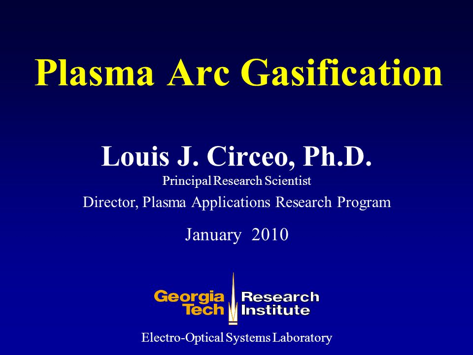 Plasma Arc Gasification