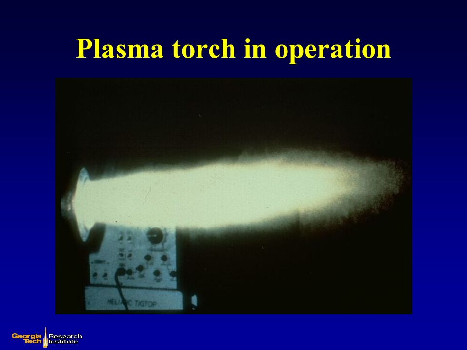 Plasma torch in operation