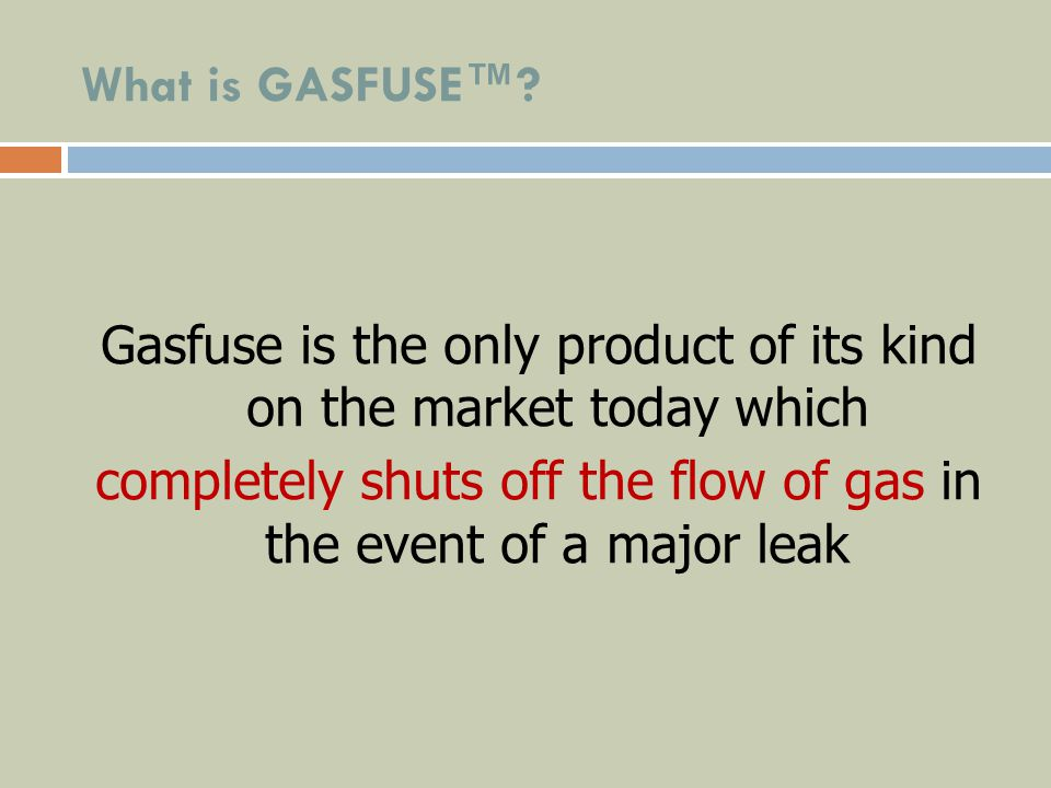 What is GASFUSE™