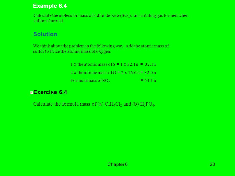 Example 6.4 Solution Exercise 6.4