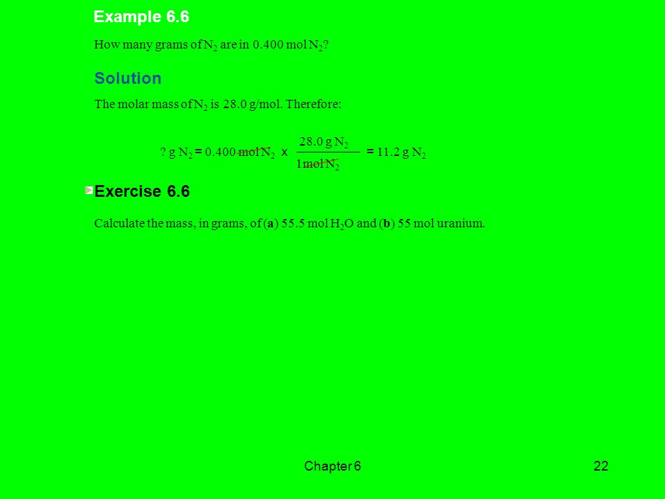Example 6.6 Solution Exercise 6.6