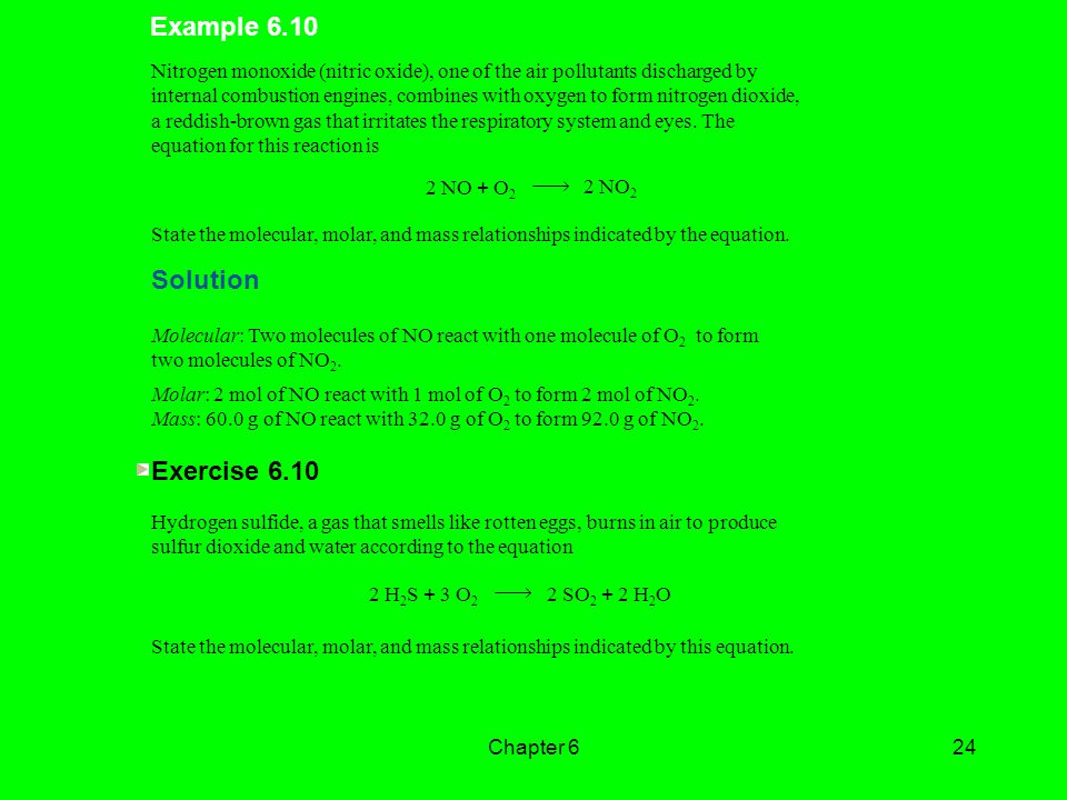 Example 6.10 Solution Exercise 6.10