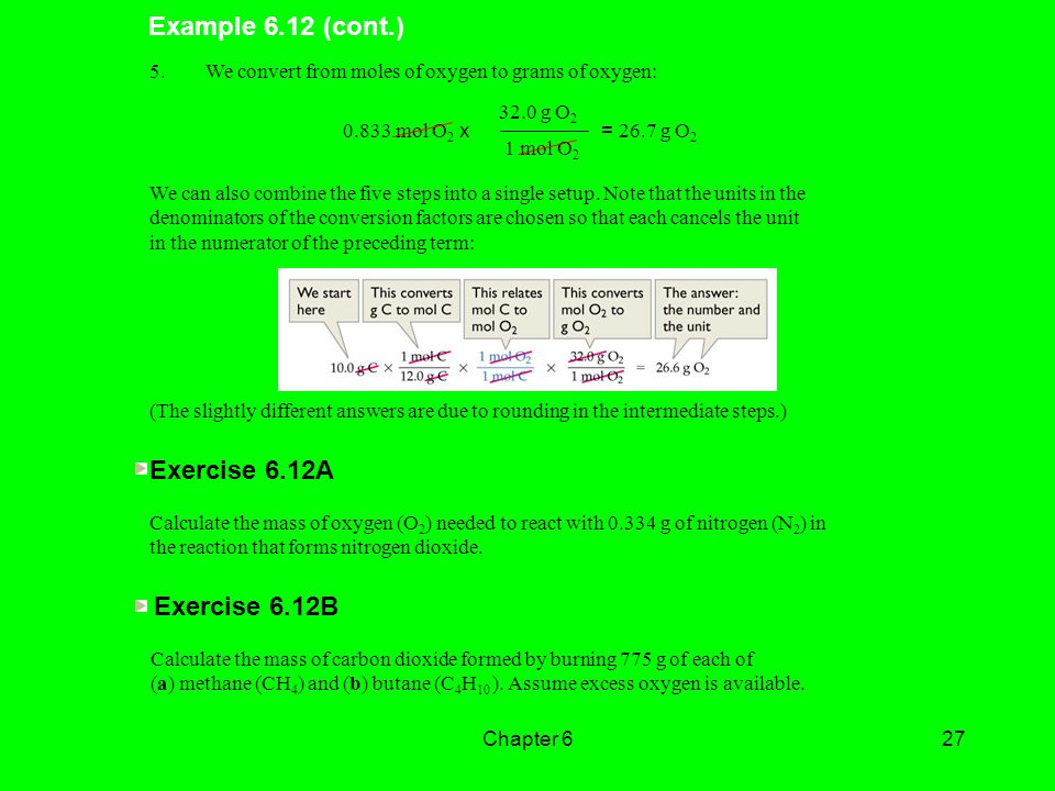 Example 6.12 (cont.) Exercise 6.12A Exercise 6.12B