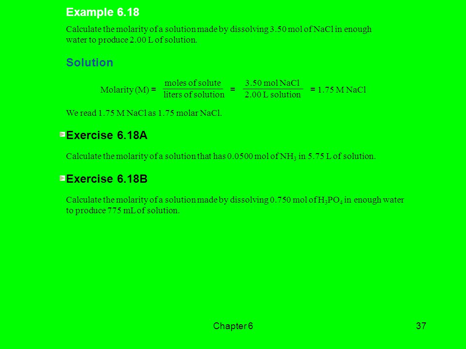 Example 6.18 Solution Exercise 6.18A Exercise 6.18B
