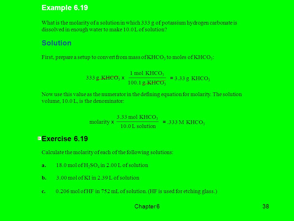 Example 6.19 Solution Exercise 6.19