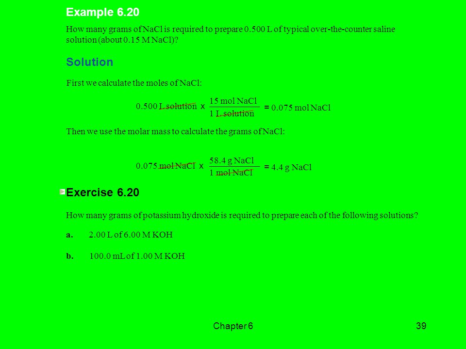 Example 6.20 Solution Exercise 6.20