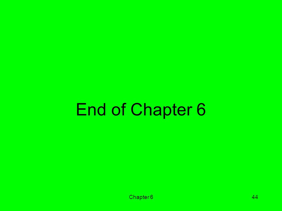 End of Chapter 6 Chapter 6
