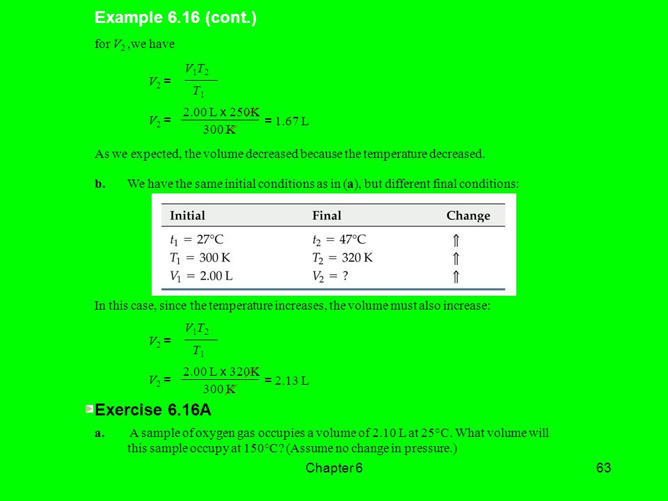 Example 6.16 (cont.) Exercise 6.16A for V2 ,we have V1T2 V2 = T1