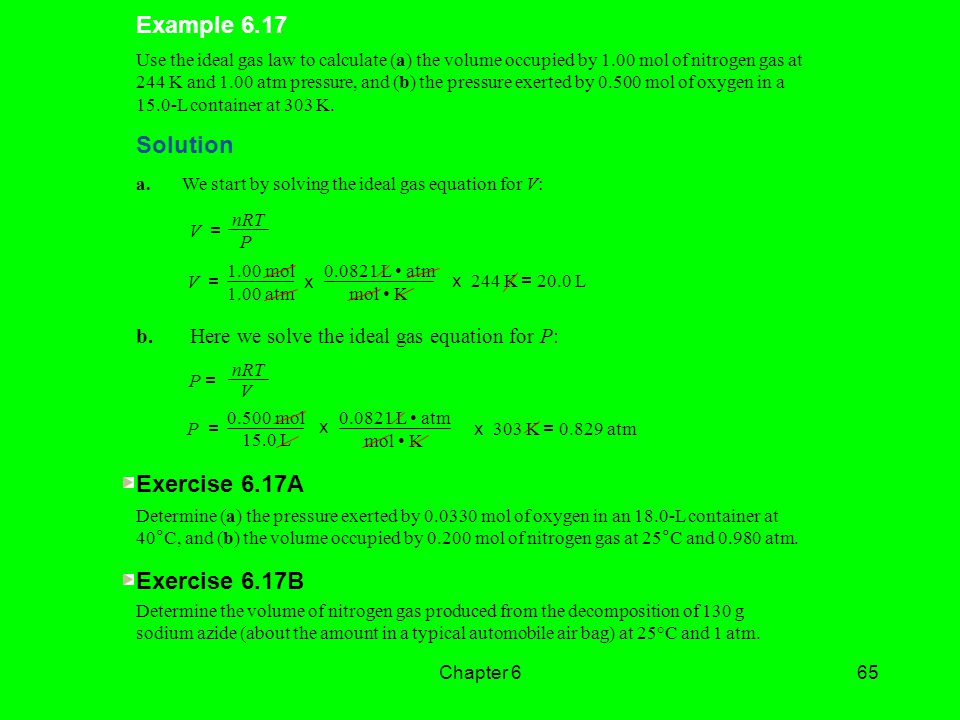 Example 6.17 Solution Exercise 6.17A Exercise 6.17B