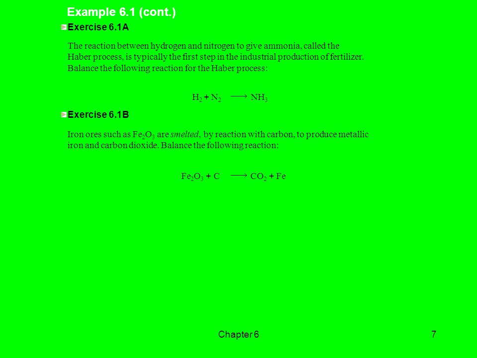Example 6.1 (cont.) Exercise 6.1A