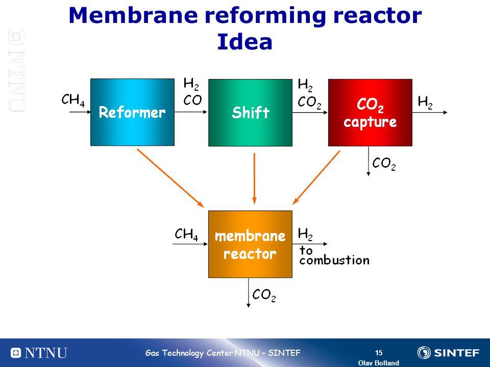 Membrane reforming reactor Idea