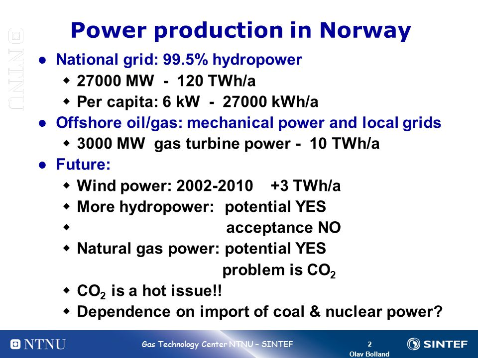 Power production in Norway