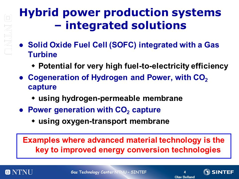 Hybrid power production systems – integrated solutions