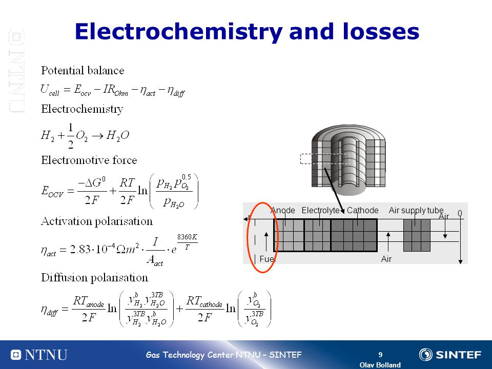 Electrochemistry and losses