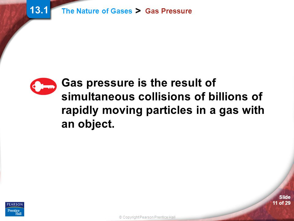 13.1 Gas Pressure.
