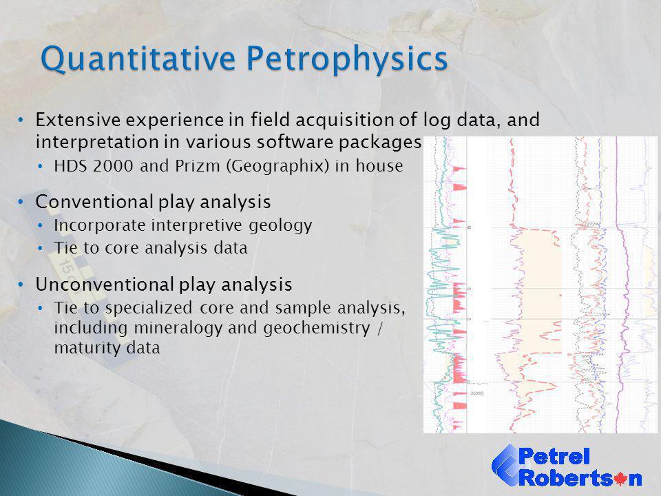 Quantitative Petrophysics