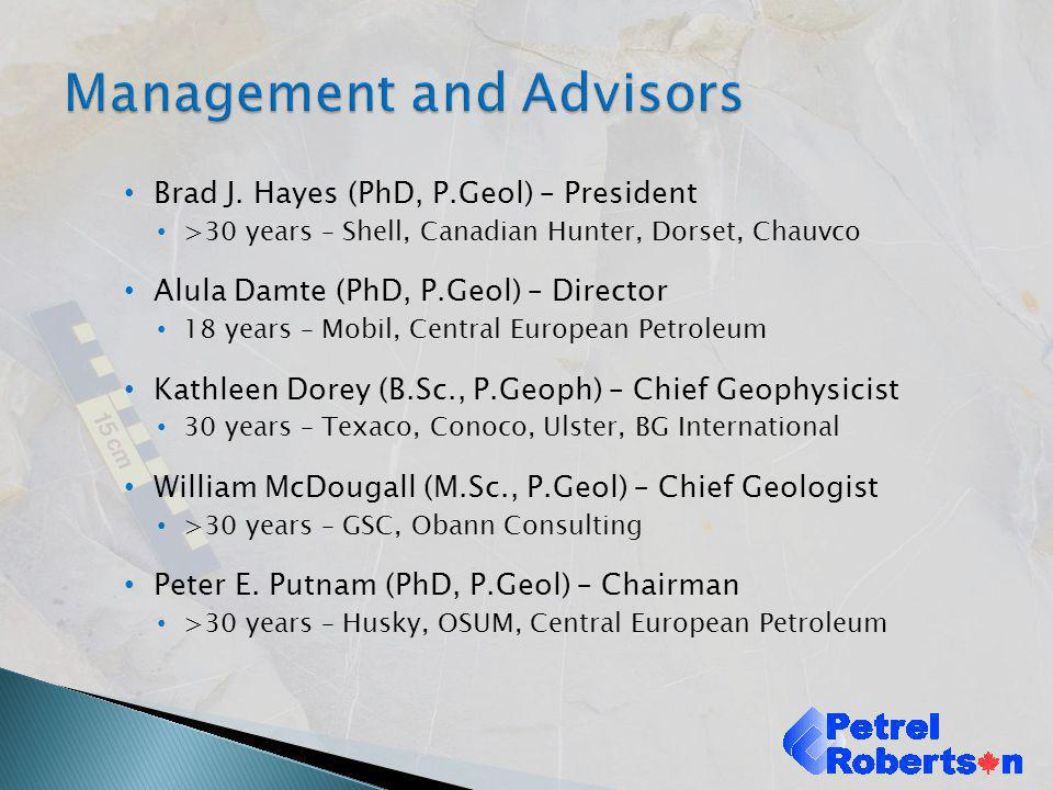Management and Advisors