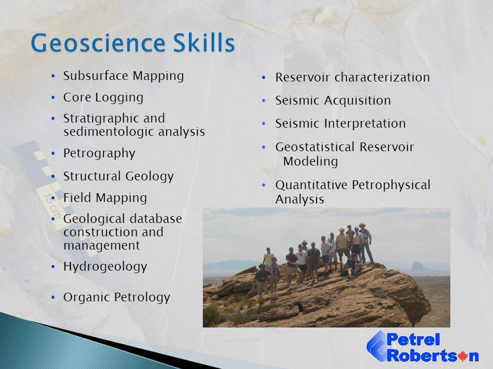 Geoscience Skills Subsurface Mapping Core Logging