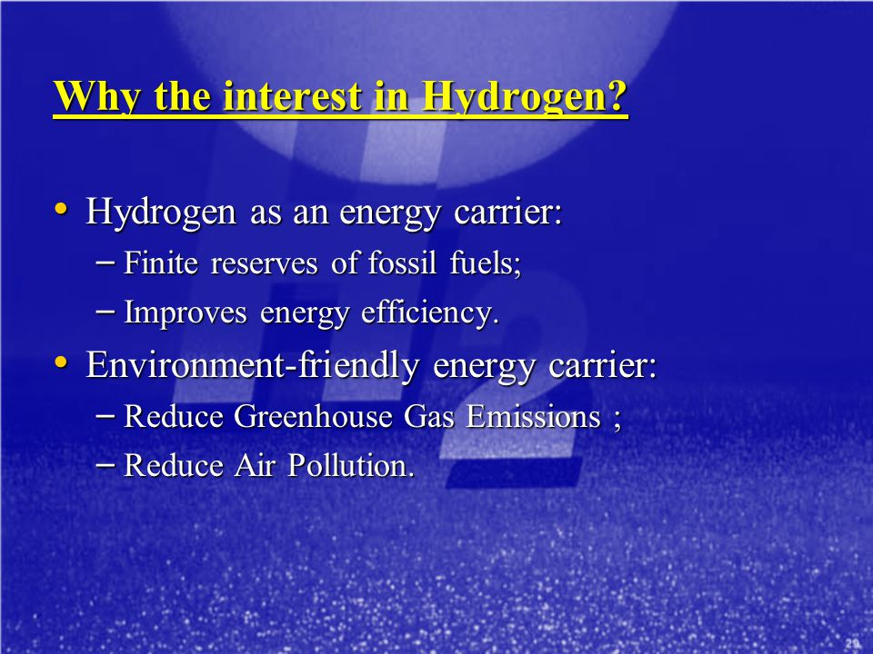 Why the interest in Hydrogen