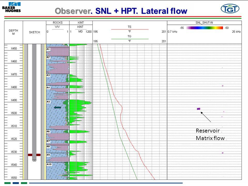 Observer. SNL + HPT. Lateral flow