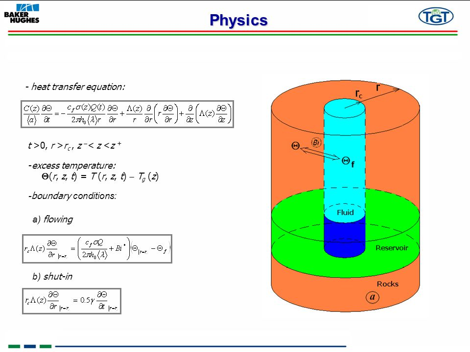 Physics - heat transfer equation: