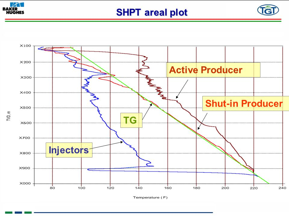 SHPT areal plot Active Producer Shut-in Producer TG Injectors 6