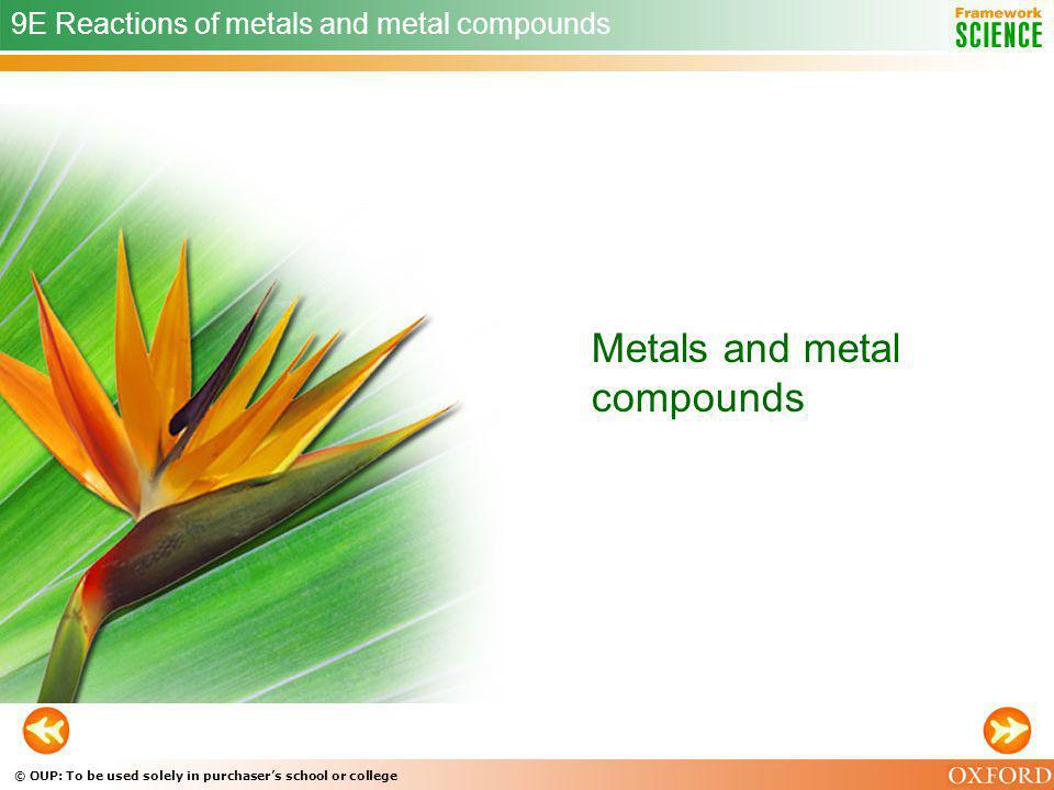 Metals and metal compounds