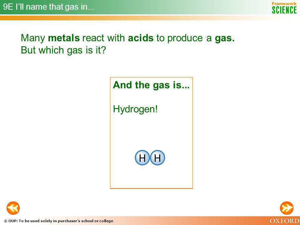 Many metals react with acids to produce a gas. But which gas is it