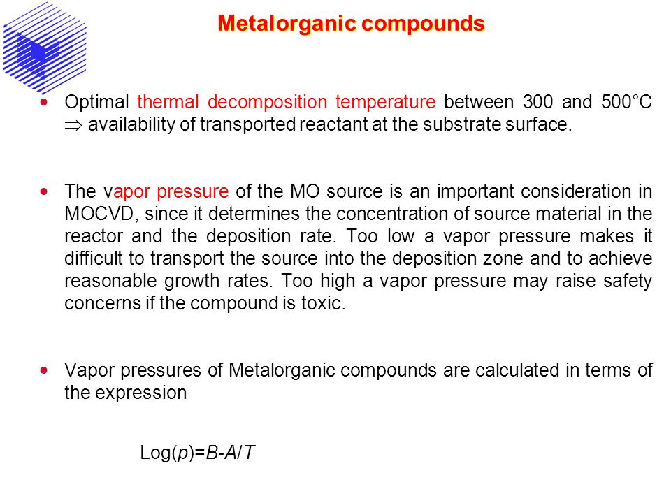 Metalorganic compounds