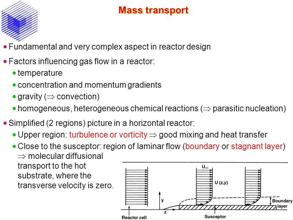 Mass transport Fundamental and very complex aspect in reactor design