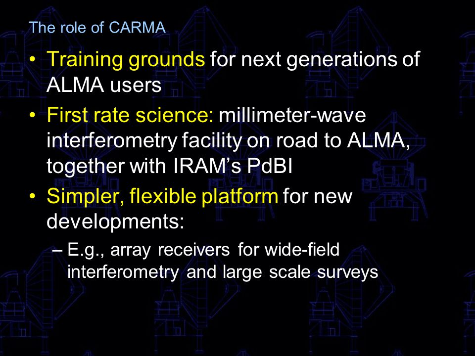 Training grounds for next generations of ALMA users