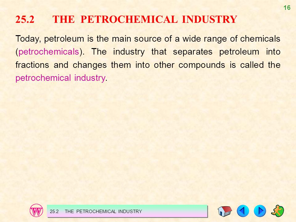 25.2 THE PETROCHEMICAL INDUSTRY