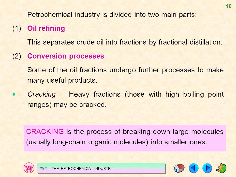 Petrochemical industry is divided into two main parts: