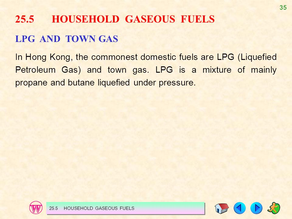 25.5 HOUSEHOLD GASEOUS FUELS