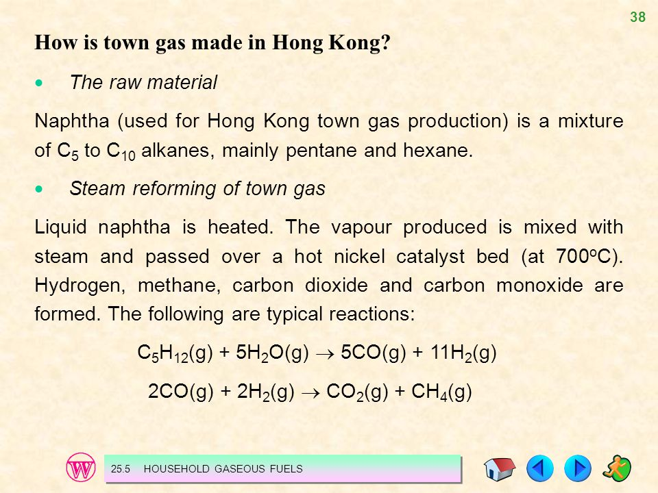 How is town gas made in Hong Kong