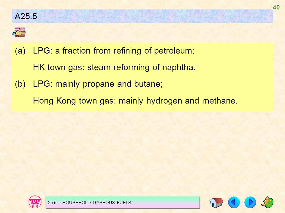 (a) LPG: a fraction from refining of petroleum;