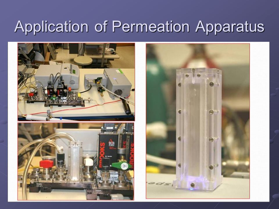 Application of Permeation Apparatus