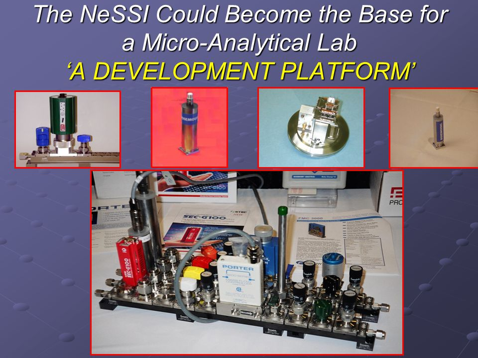 The NeSSI Could Become the Base for a Micro-Analytical Lab 'A DEVELOPMENT PLATFORM'