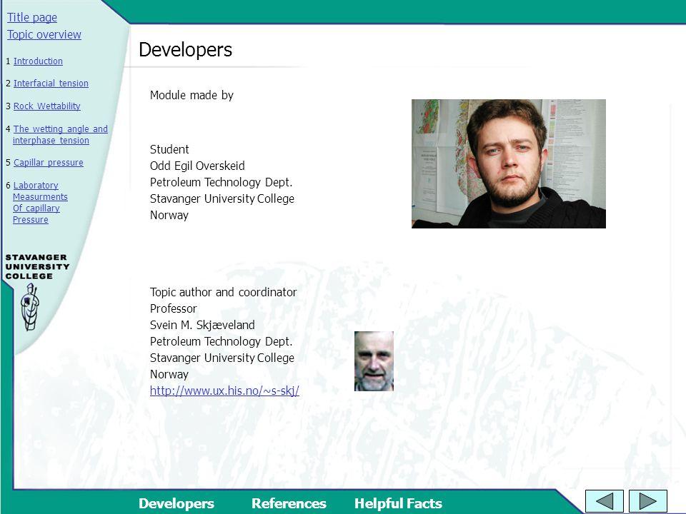 Developers Module made by Student Odd Egil Overskeid