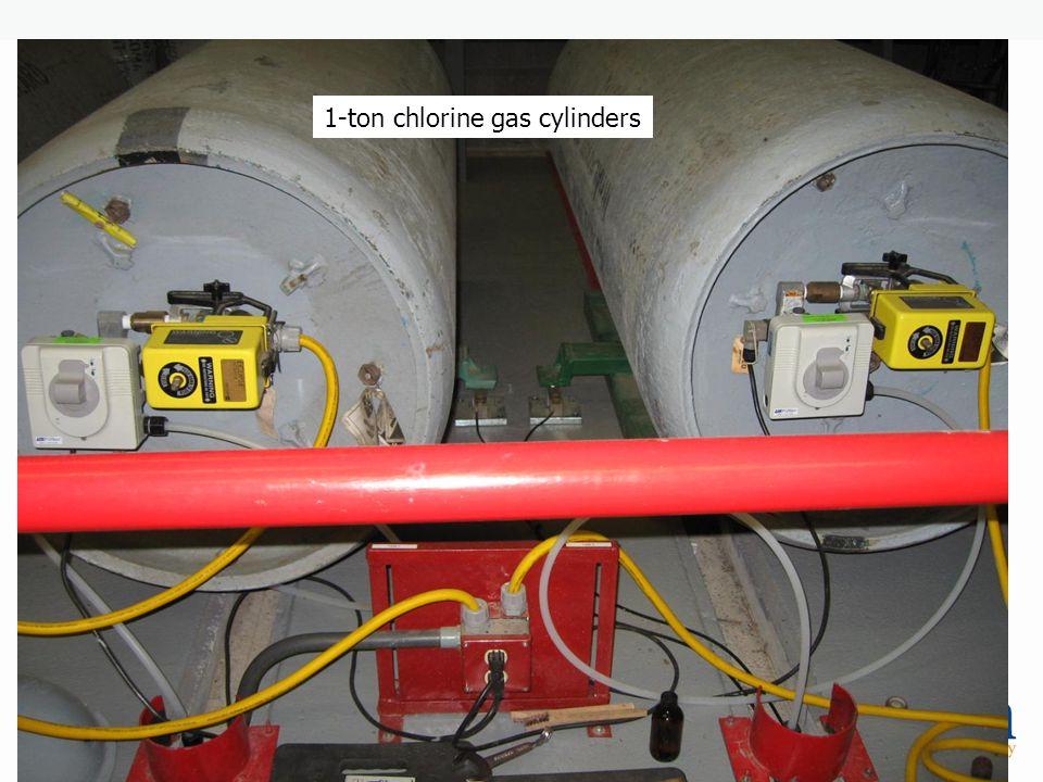 1-ton chlorine gas cylinders