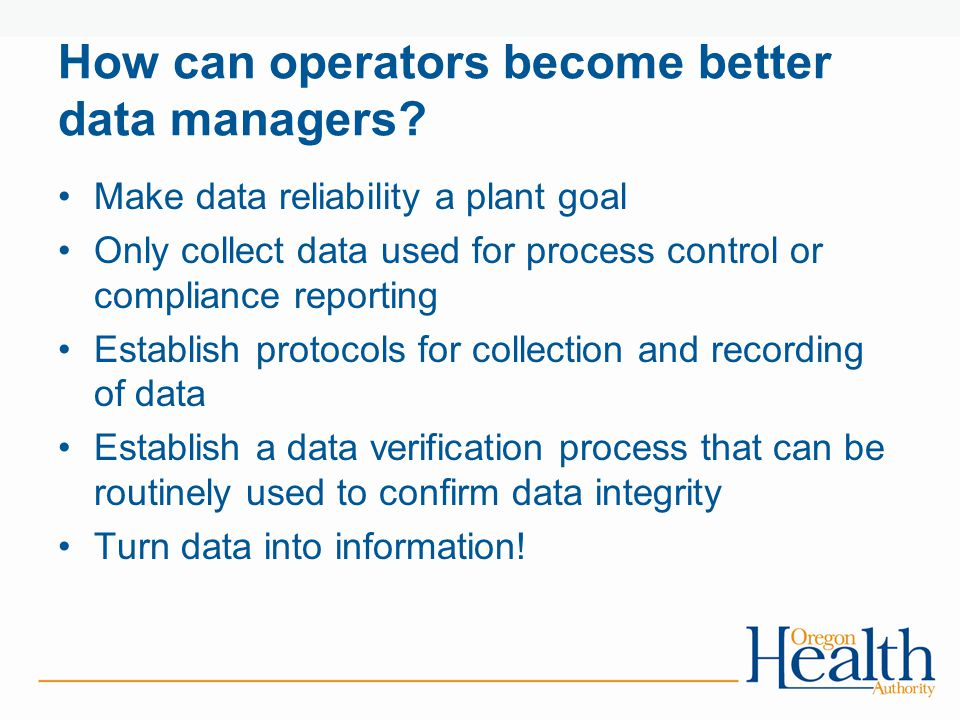 How can operators become better data managers